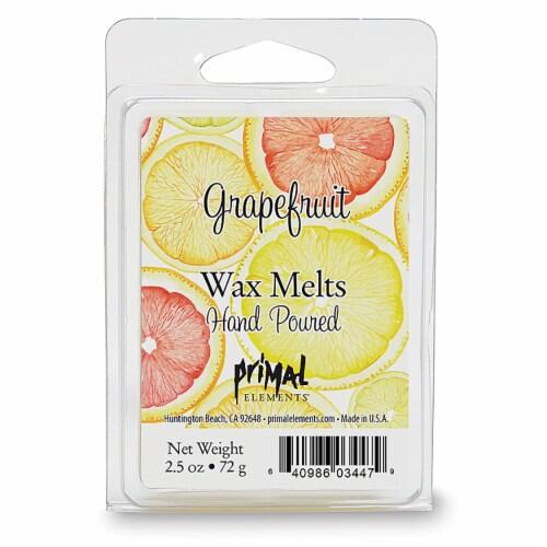 Primal Elements Grapefruit Wax Melts Perspective: front