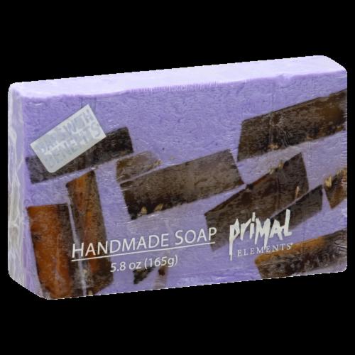 Primal Elements Lavender Handmade Soap Bar Perspective: front