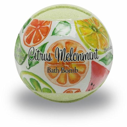 Primal Elements Citrus Melonmint Bath Bomb Perspective: front