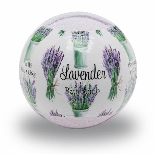 Primal Elements Lavender Bath Bomb Perspective: front