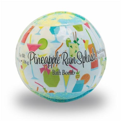 Primal Elements Pineapple Rum Splash Bath Bomb Perspective: front