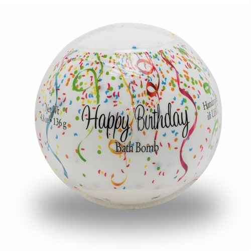 Primal Elements Happy Birthday Bath Bomb Perspective: front