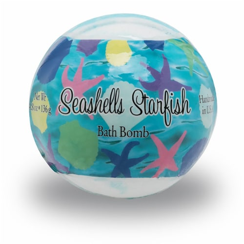 Primal Elements Seashells & Starfish Bath Bomb Perspective: front