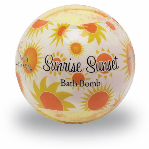 Primal Elements Sunrise Sunset Bath Bomb Perspective: front