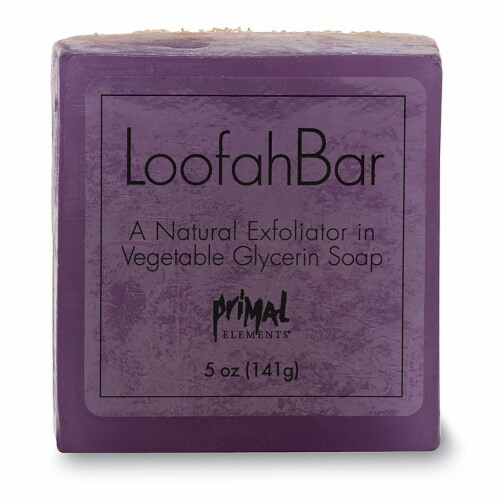 Primal Elements French 75 Loofah Bar Soap Perspective: front