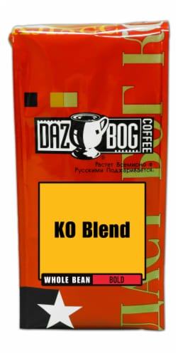 Dazbog KG Blend Bold Whole Bean Coffee Perspective: front