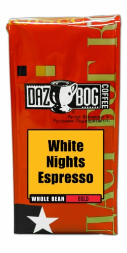 Dazbog White Nights Espresso Bold Whole Bean Coffee Perspective: front
