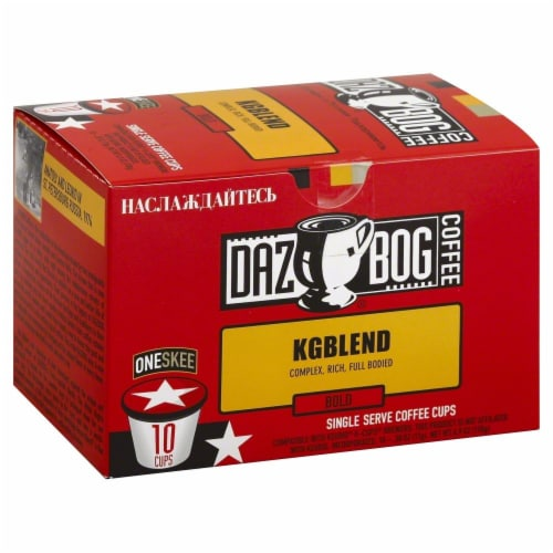 Dazbog KGBlend Bold Coffee Single Serve Cups Perspective: front