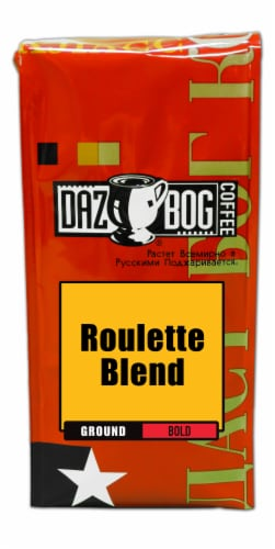 Dazbog Russian Roulette Bold Ground Coffee Perspective: front