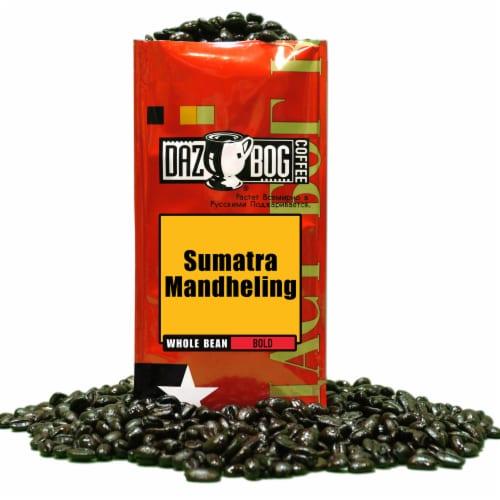Dazbog Sumatra Mandheling Bold Whole Bean Coffee Perspective: front