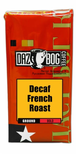 Dazbog Decaf French Roast Ground Coffee Perspective: front