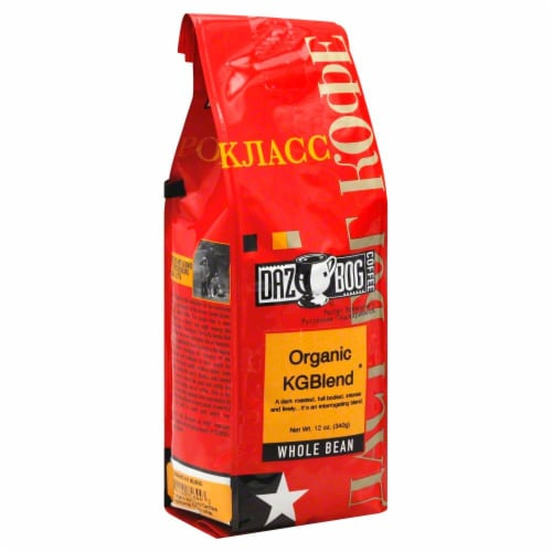 Dazbog Organic KG Blend Whole Bean Coffee Perspective: front