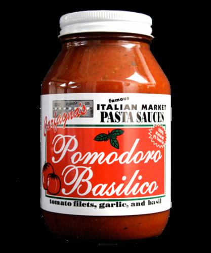 Carfagna's Pomodoro Basilico Sauce Perspective: front