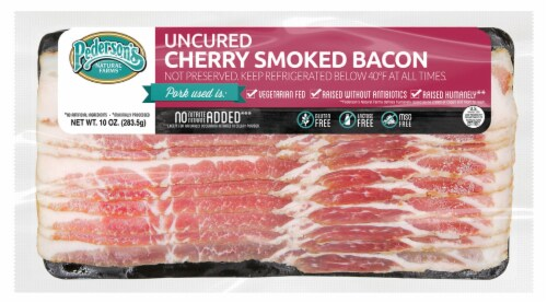 Pederson's Uncured Cherry Smoked Bacon Perspective: front