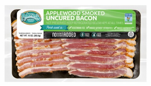 Pederson's Applewood Smoked Uncured Bacon Perspective: front