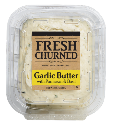 Chef Shamy Fresh Churned Garlic Butter with Parmesan & Basil Perspective: front