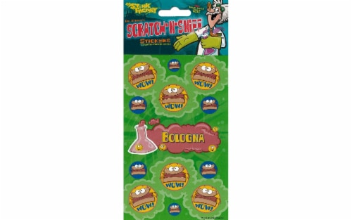 Just For Laughs Sticker Scratch-Sniff Bologna Perspective: front