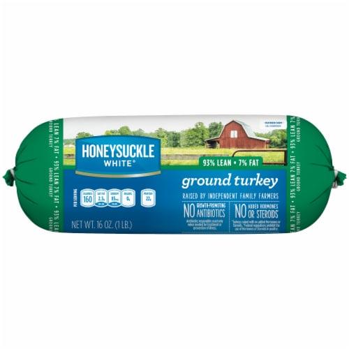 Honeysuckle 93% Lean White Ground Turkey Perspective: front