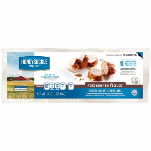 Honeysuckle White Rotisserie Flavor Turkey Breast Tenderloins Perspective: front