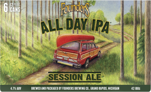 Founders Brewing All Day IPA Session Ale Perspective: front