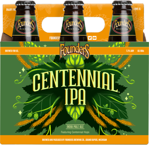Founders Brewing Centennial IPA Perspective: front