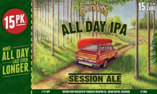 Founders Brewing All Day IPA Perspective: front