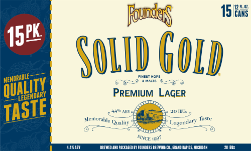 Founders Brewing Solid Gold Premium Lager Perspective: front