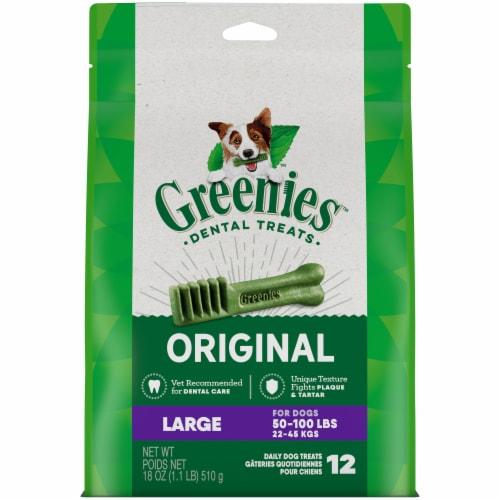 Greenies Original Large Dog Dental Treats Perspective: front
