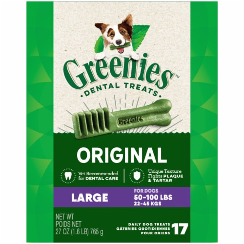 Greenies Original Large Dog Dental Treats 17 Count Perspective: front