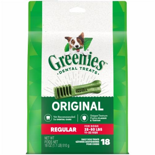 Greenies Original Regular Sized Dog Dental Treats Perspective: front