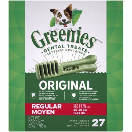 Greenies Original Regular Dog Dental Treats Perspective: front