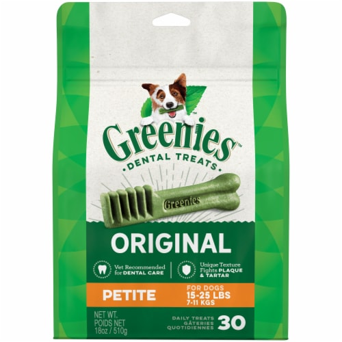 Greenies Original Petite Dog Dental Treats Perspective: front