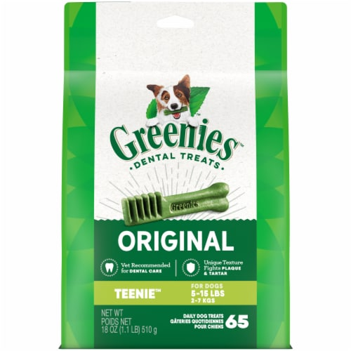 Greenies Original Teenie Dog Dental Treats Perspective: front