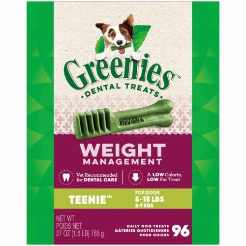 Greenies Weight Management Teenie Dog Dental Treats Perspective: front