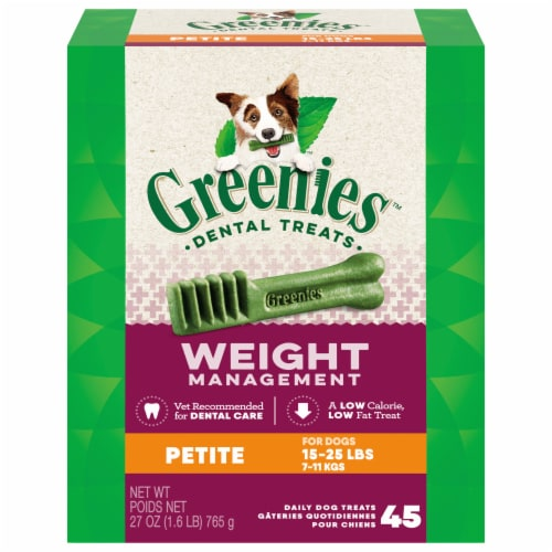 Greenies Weight Management Petite Dog Dental Treats Perspective: front