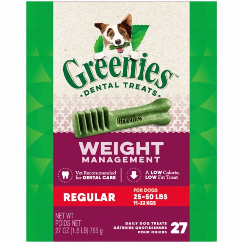 Greenies Weight Management Regular Size Dog Dental Treats Perspective: front