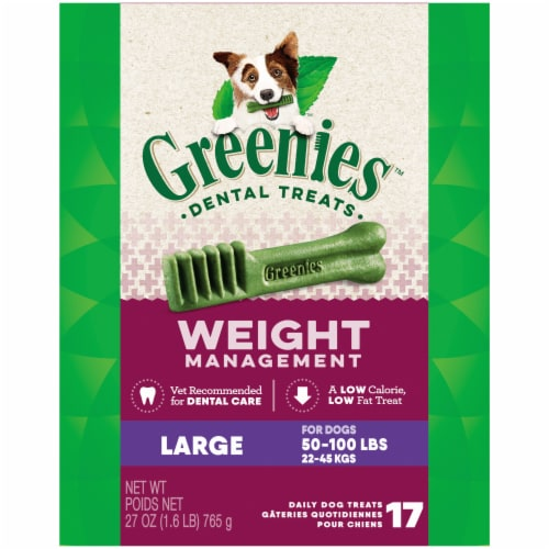 Greenies Weight Management Large Dog Dental Treats Perspective: front