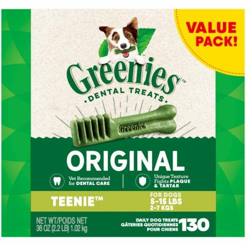 Greenies Original Teenie Dog Dental Treats Value Pack Perspective: front