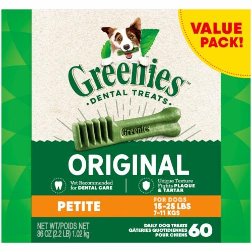 Greenies Original Petite Dog Dental Treats Value Pack Perspective: front