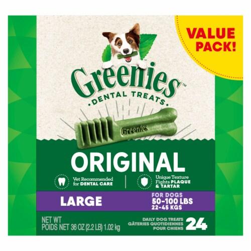 Greenies Original Large Dog Dental Treats Value Pack Perspective: front