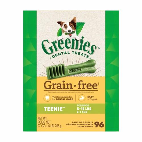 Greenies Grain Free Teenie Dog Dental Treats Perspective: front