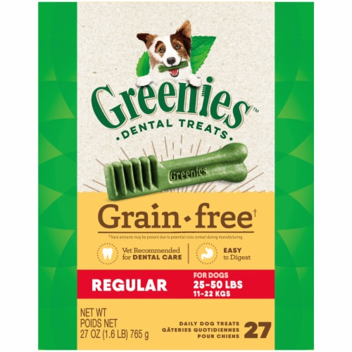 Greenies Grain Free Regular Dog Dental Treats Perspective: front