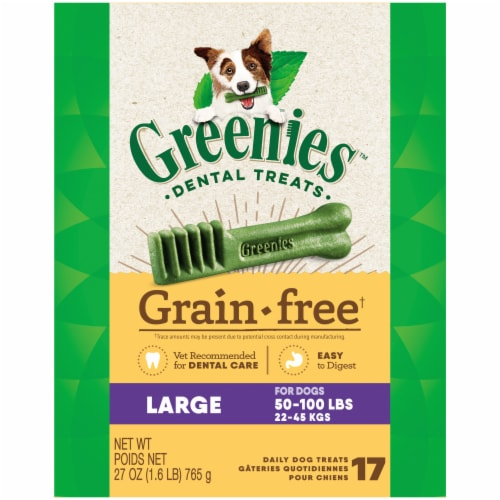 Greenies Grain Free Large Dog Dental Treats Perspective: front