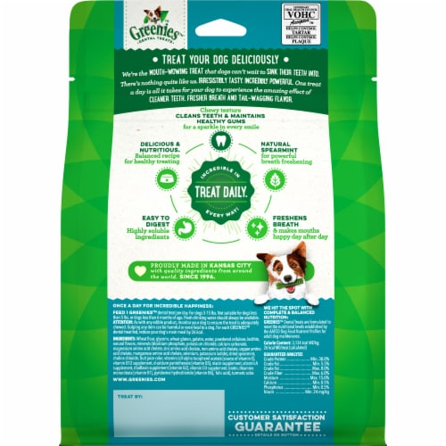 Greenies Fresh Teenie Dog Treats 43 Count Perspective: front