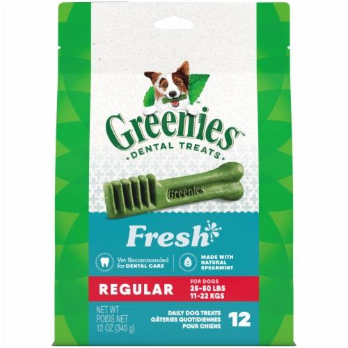 Greenies Fresh Regular Dental Dog Treats Perspective: front