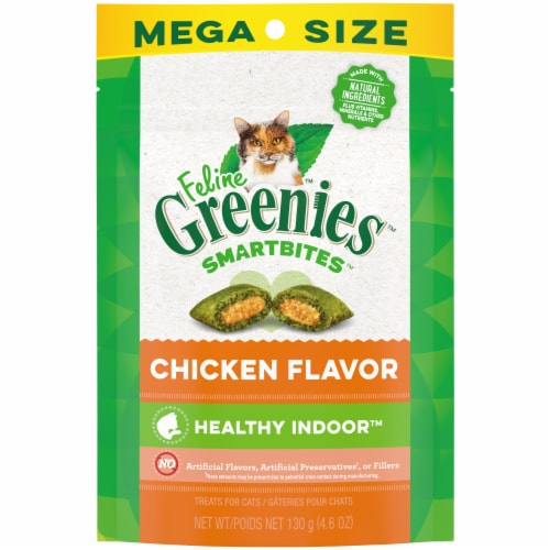 Greenies  Feline Smartbites Hairball Control Treats Chicken Perspective: front