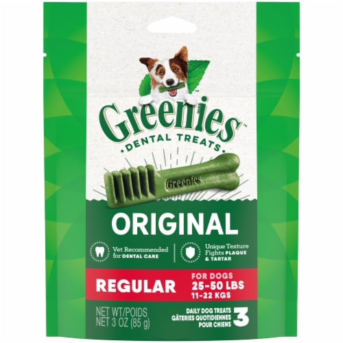 Greenies Original Regular Sized Dog Dental Treats Perspective: front