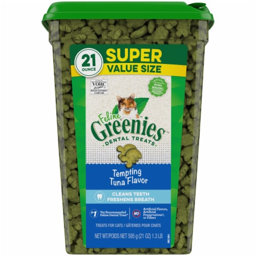 Greenies Tempting Tuna Flavor Cat Dental Treats Perspective: front