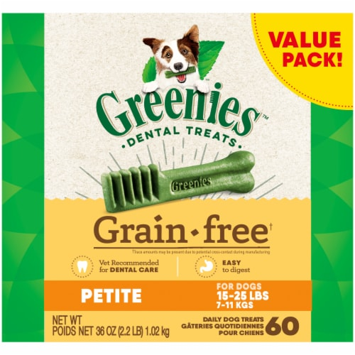 Greenies Grain-Free Petite Dog Dental Treats Value Pack Perspective: front