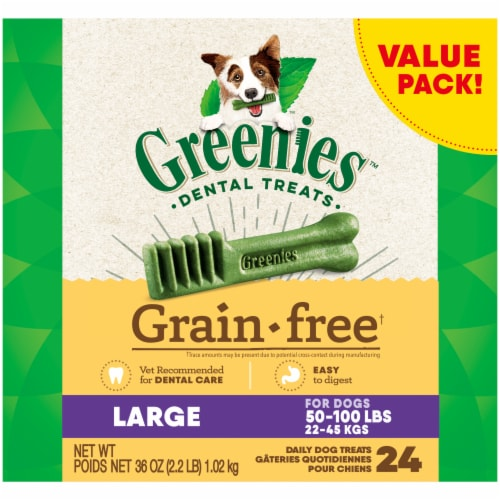 Greenies Grain Free Large Dental Treats Value Pack Perspective: front
